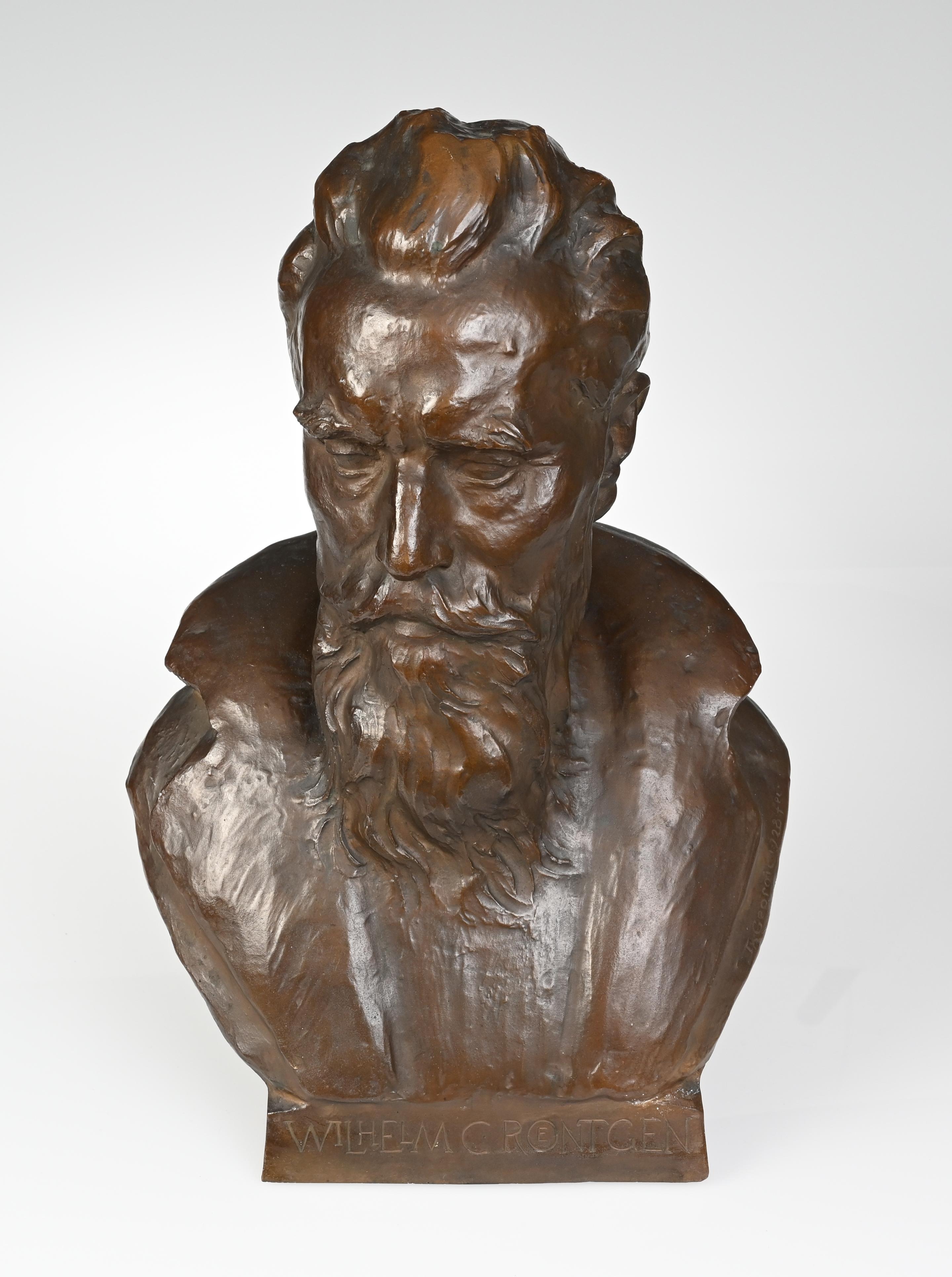 Büste von Wilhelm Conrad Röntgen.