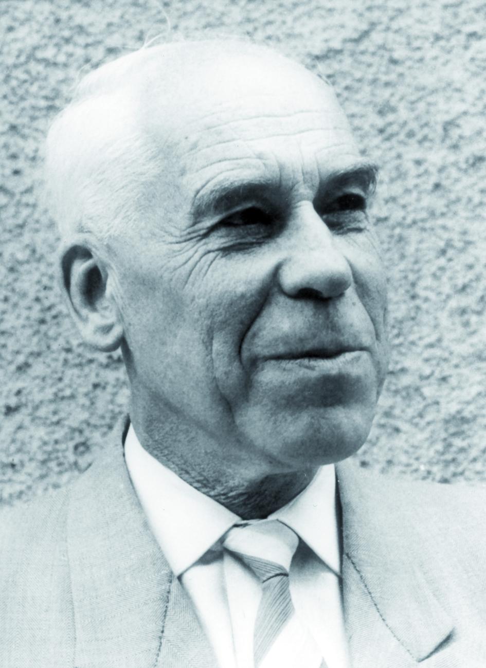 Portraitfoto von Herrn Wilhelm Hanle.
