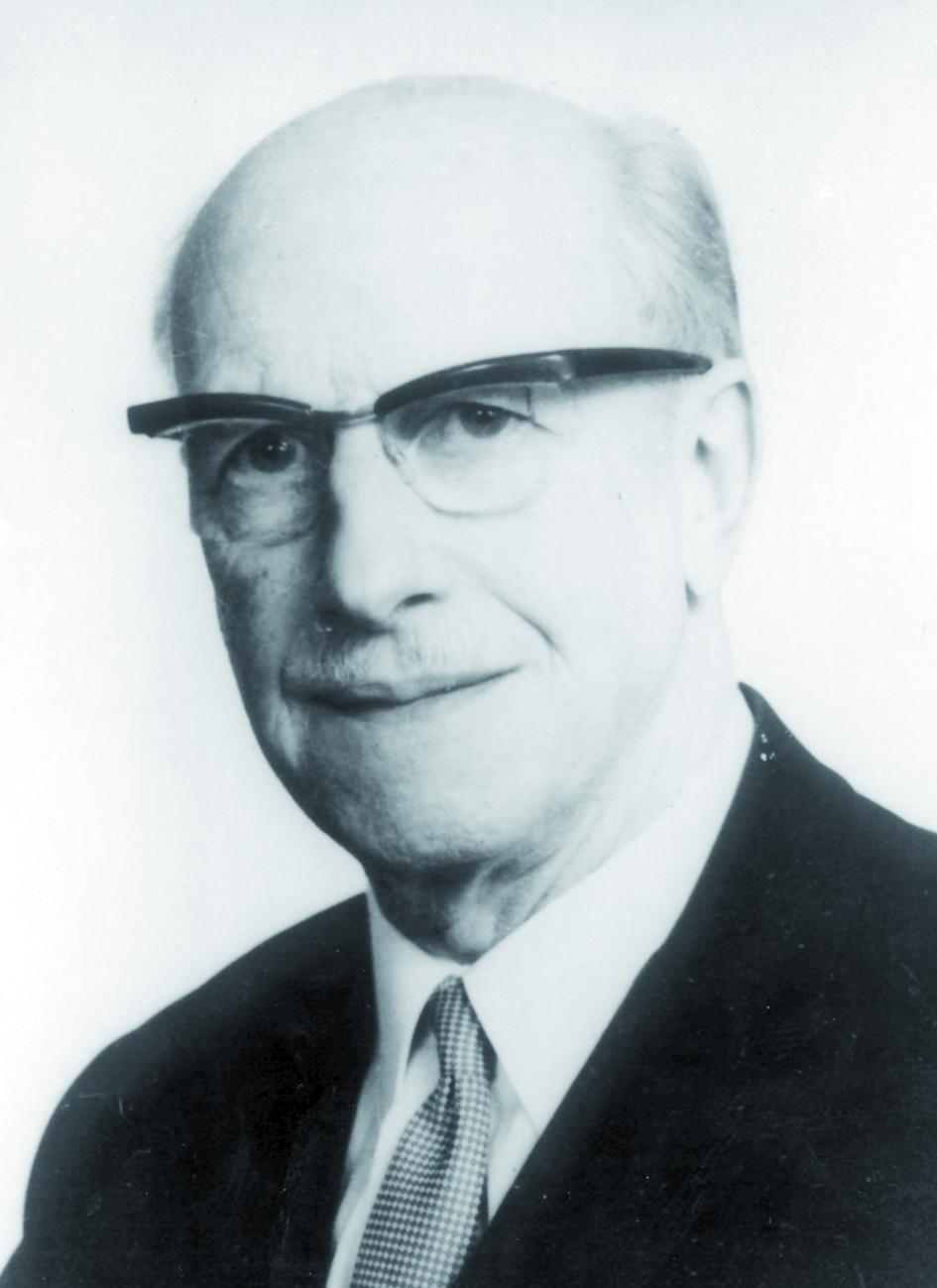 Portraitfoto von Herrn Bernard G. Ziedses des Plantes.