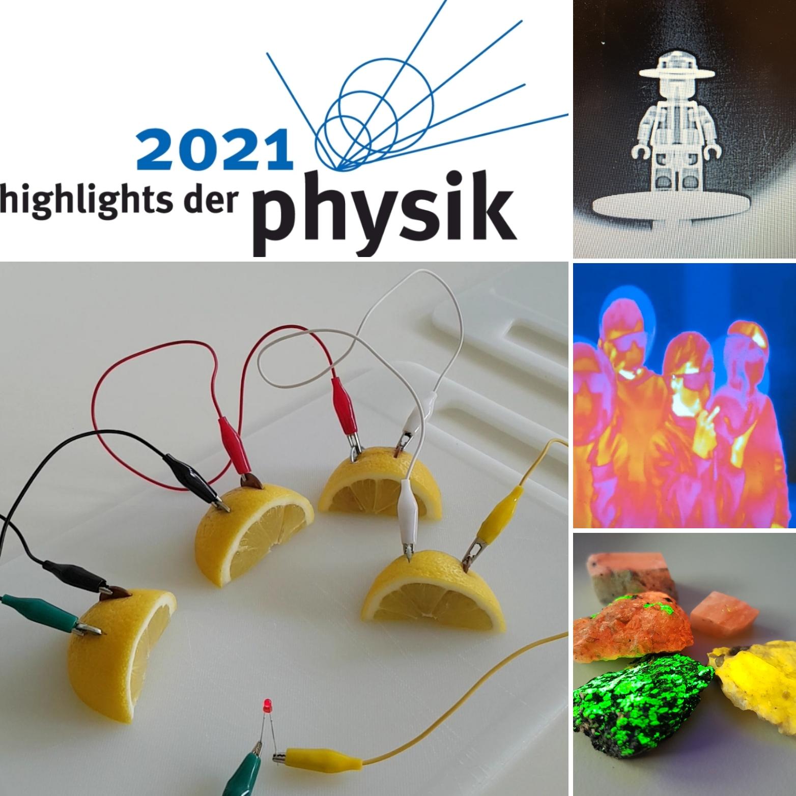 Collage für die Highlights der Physik